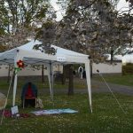 Photo of Storytelling Gazaebo set up at Lauriston Castle